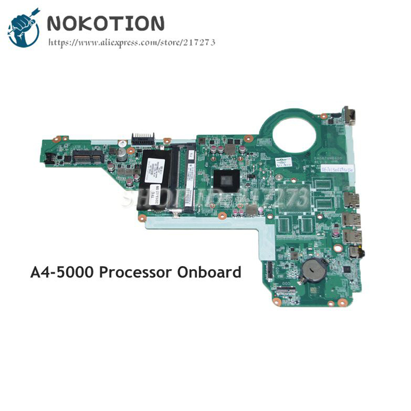 NOKOTION 731534-001 731534-501 DA0R76MB6D0 MAIN BOARD For HP Pavilion 17Z-E100 17Z Laptop Motherboard A4-5000 CPU DDR3 731534 001 731534 501 for hp pavilion 17z e100 17z laptop motherboard a4 5000 cpu onboard ddr3 da0r76mb6d0 warranty 60 days