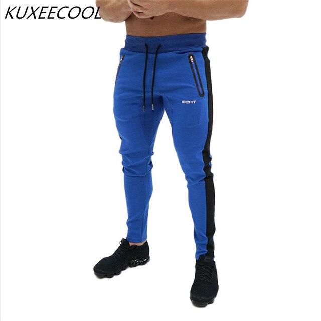 Pantalones casuales de moda para hombre Fitness ropa deportiva chándal  Bottoms Skinny Sweatpants pantalones Gyms Jogger 249aa49ddc43