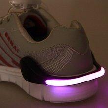 Useful Outdoor Tool LED Luminous Shoe Clip Light Night Safety Warning LED Bright Flash Light Running Cycling Bike 1 Pcs