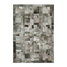 cowhide rug RF-B03 grey elephant puzzle different shades of and a classic patchwork design carpet