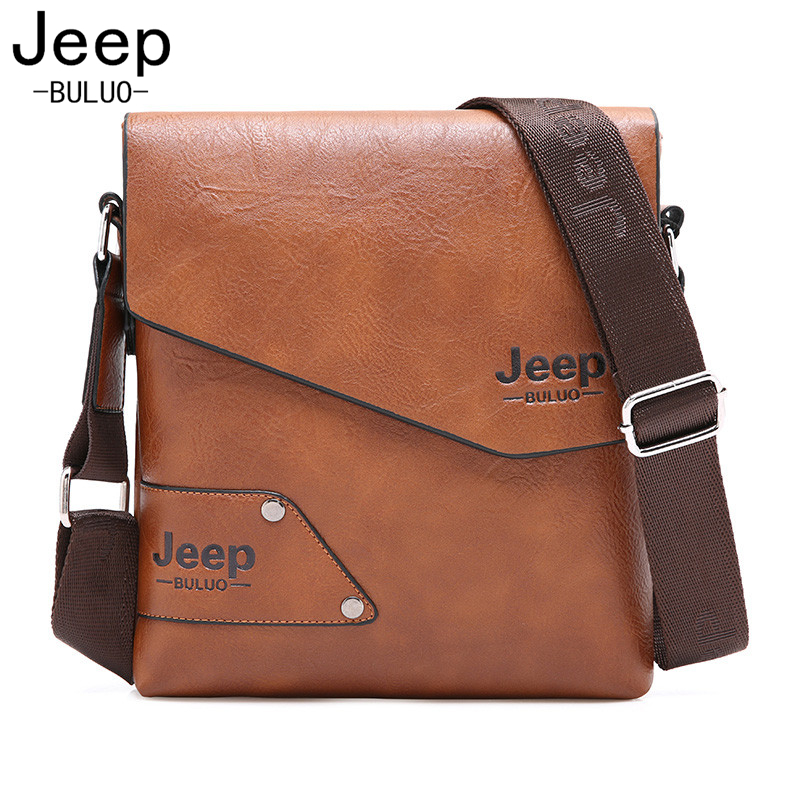 все цены на Jeep New Arrival Fashion Business High Quality Men Messenger Bags Cow Split Leather Crossbody Shoulder Bag Casual Man Bag AW016 онлайн