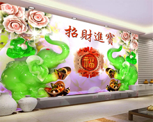 лучшая цена Customize any size size jade carving jade like Nafu Luoyijinjin TV backdrop decorative painting papel de parede 3d wallpapers