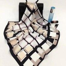 Великолепный квадратный натуральный шелк тутового шелкопряда шарф шелковый атлас шейный платок Заводская распродажа Смешанные 3 шт./партия#4102