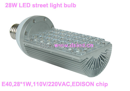 CE,3-year warranty,high power  28W LED street light bulb,E40 base,110V/220VAC,EDISON chip,good quality,DS-SL-1,6500K,3000K,4000K brand new high quality warranty for one year bes m18mg psc16f s04k