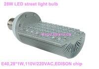 CE, $number năm bảo hành, công suất cao 28 w bóng đèn đường dẫn, E40 cơ sở, 110 V/220VAC, chip Edison, chất lượng tốt, DS-SL-1, 6500 k, 3000 K, 4000 k