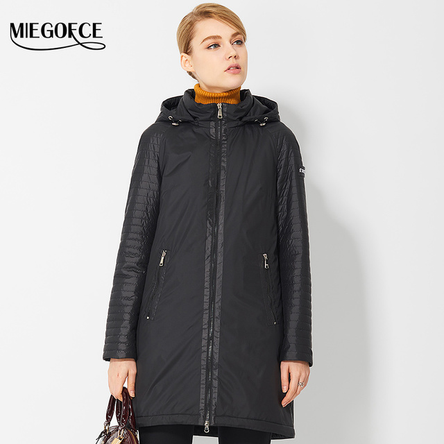 Spring Women's Parkas Windproof Warm Coats Women Coat Jacket European Style Thin Cotton-Padded Jacket for Mama 2017 New Designs