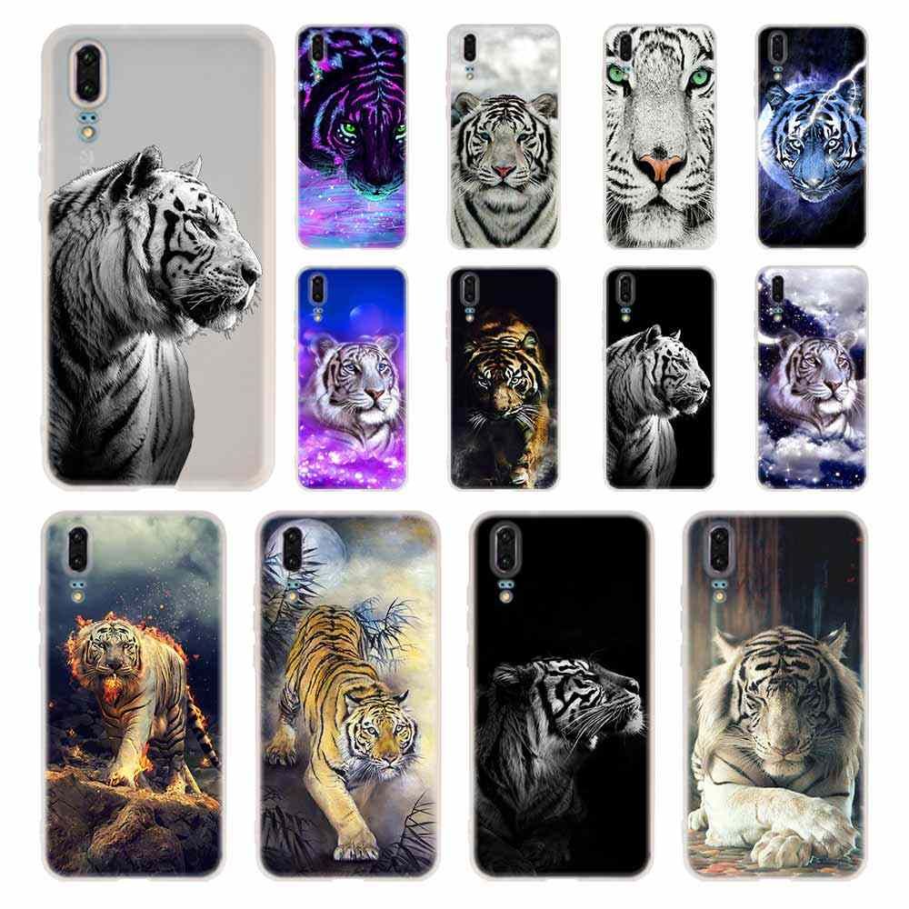 MLLSE angry white tiger Case Silicone Soft TPU Cover For Huawei P30 P20 Pro P10 P9 P8 Plus Lite 2019 Cases