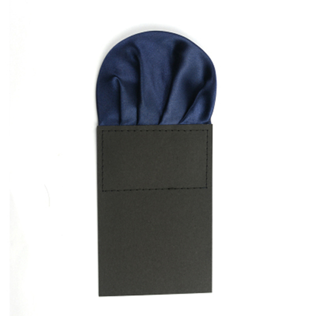 Mens Solid Plain Pre Folded Pocket Square Wedding Party Satin Handkerchief Hanky