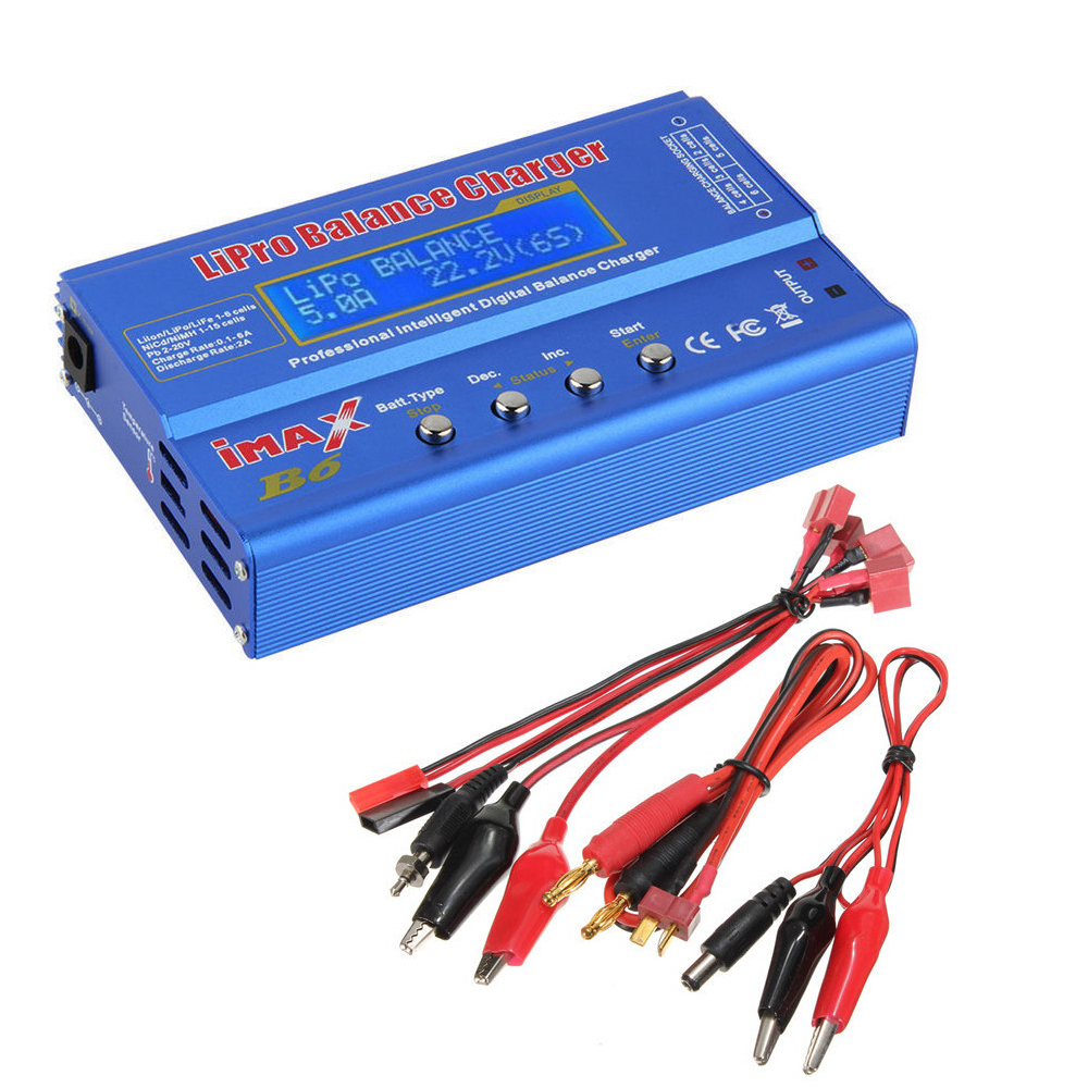 80W Digital iMax B6 Battery Balance Charger <font><b>AC</b></font> Converter Adapter <font><b>DC</b></font> 12V <font><b>5A</b></font> for Lipo NiMh Li-ion Ni-Cd Mini Tamiya Connector image
