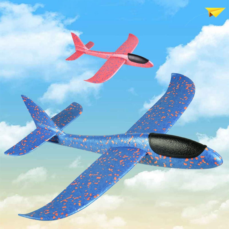 2019 Hand Throw Flying Glider Planes Foam Toys For Kids DIY Aeroplane Model Party Bag Fillers Flying Glider Plane Kids Toys Game