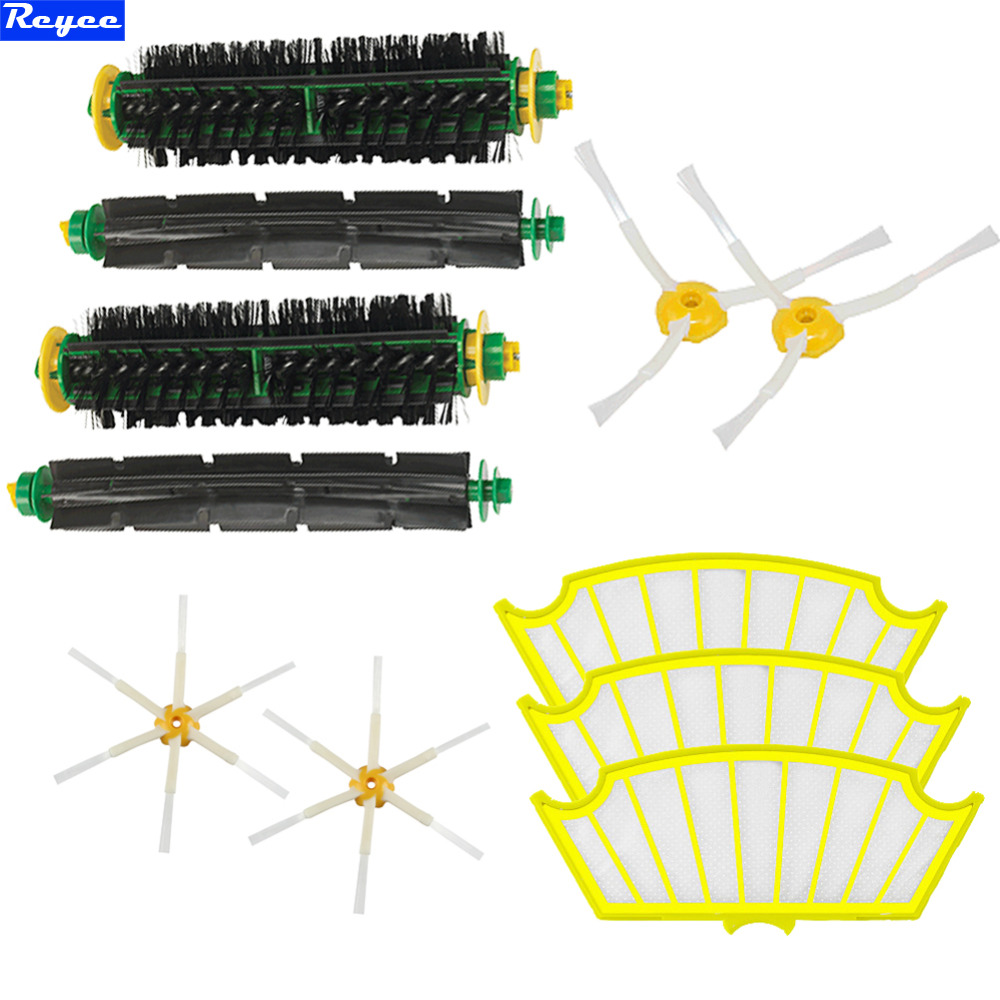 High Quality Bristle & Flexible Beater Brush Armed Filter kit for iRobot Roomba 500 Series Vacuum Cleaner 520 530 540 550 560 3pc brush replacement mini kit 6 armed for irobot roomba 500 series free shipping
