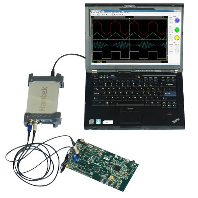 Hantek 6022BE Digital Storage Virtual Oscilloscope 20MHz Bandwidth 2CH Scope for Notebook Computer  hantek idso1070a 2ch 70mhz digital oscilloscope iphone ipad android windows oscilloscope wifi communication