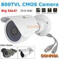 Высокое качество! CCTV Камеры 800TVL система безопасности водонепроницаемый 24 шт. ИК ночного видения Мини Пуля CMOS Камера наружного Наблюдения
