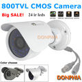 High quality! CCTV Camera 800TVL security system waterproof 24pcs IR night vision Mini Bullet CMOS outdoor Surveillance Camera