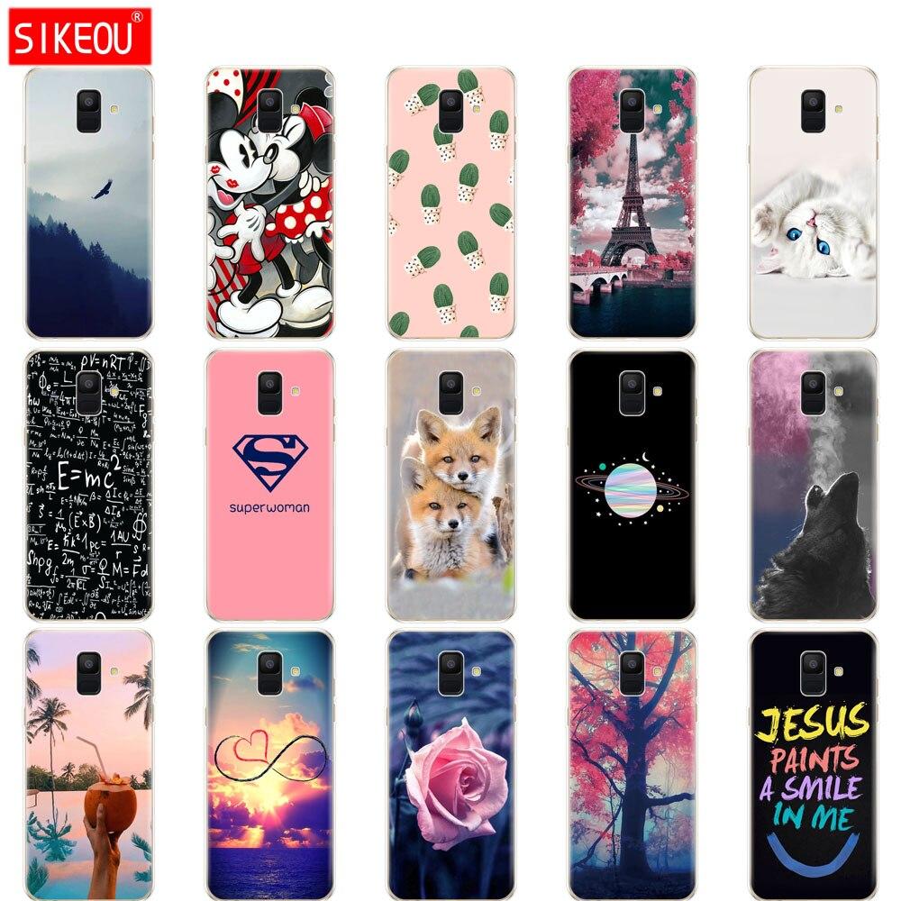 Silicone Case For Samsung Galaxy A6 2018 case SM A600 A600F Soft Tpu Cover For Samsung A6 Plus 2018 cover A605 A605F shell funda