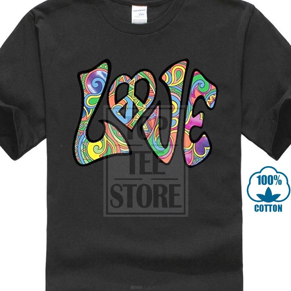 Funny Cheap Tee Shirts Love Hippy Peace 60s Retro Vintage Style