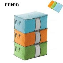 FEIGO 35*42*60cm Folding Closet Organizer Non-woven Portable Storage Bag Clothes Organizer For pillow Duvet Cover Bedding F680