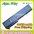 Apexway 4400 mah 11.1 v bateria do portátil para dell vostro 1310 1320 1510 1520 n956c n958c t114c 0n241h 312-0922 312-0725 45110587