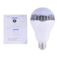 Bezprzewodowy Głośnik Bluetooth Inteligentne Żarówki LED RGB Światła 110-240 V E27 4 W lampy Audio dla Android iPhone iPad Xiaomi Meizu caixa de som