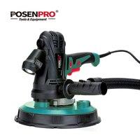 POSENPRO 1240 Вт 230 мм ручной гипсокартон с переменной скоростью с наждачной бумагой, пылесборником и сумкой для сбора, светодиодный фонарь без пы