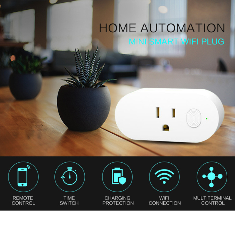 Mini U.s. Regulations Smart Plug Wi-fi Enabled Smart Outlet Alexa Echo Google Home & Ifttt Compatible Control Remotely And No Commodities Are Available Without Restriction