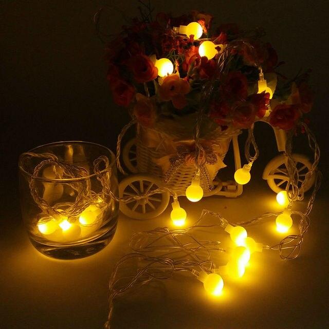 10m 20m 30m 50m 100m matte balls christmas lights outdoor flasher led garlands string fairy lights