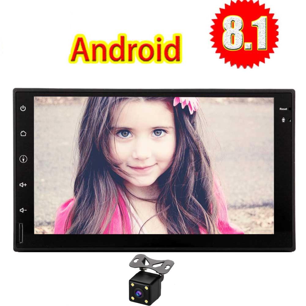 Radio HD 1080 P lecteur vidéo SWC EQ USB TF carte papier peint changement Android Eincar Double Din autoradio avec Android 8.1 Oreo GPS