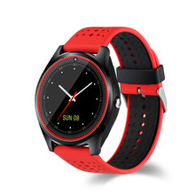 10pcs Bluetooth Smart Watch V9 Micro SIM card With Camera Pedometer Health Sport MP3 music Clock Smartwatch For Android IOS