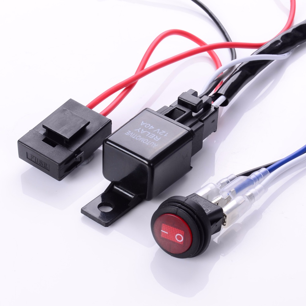 popular spotlight wiring harness buy cheap spotlight wiring 200cm cable lines offroad led driving light bar 12v 40a extention wire relay fog lamp wiring