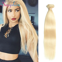 Sapphire Brazilian Hair Weave Bundles Human Hair Straight Bundles 613 Blonde Color 1 pc 100% Human Hair Extensions Free Shipping