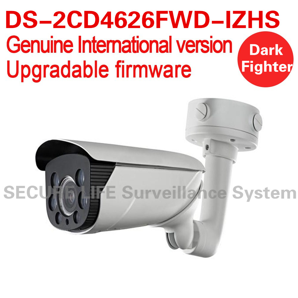Free Shipping DS-2CD4626FWD-IZHS English version 2MP Low Light Smart bullet cctv Camera POE 50m IR, dark fighter heater, audio ds 2cd4a26fwd izh english version 2mp low light smart bullet ip cctv camera poe lpr 50m ir mortorized vf lens heater no audio
