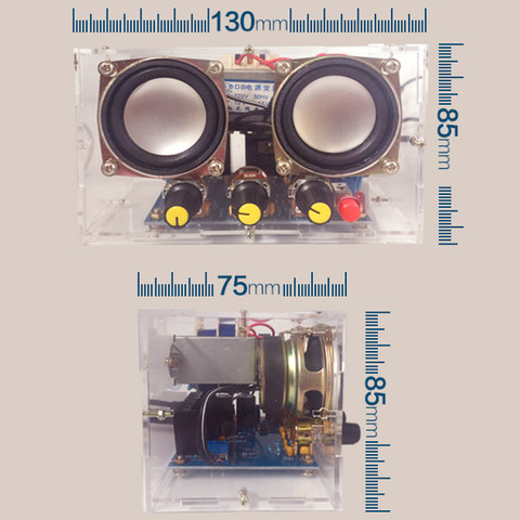 Small Amplifier Two Channel Speaker Audio Kit TDA2030 Mini Electronic DIY Production Parts Assembly Module Lahore