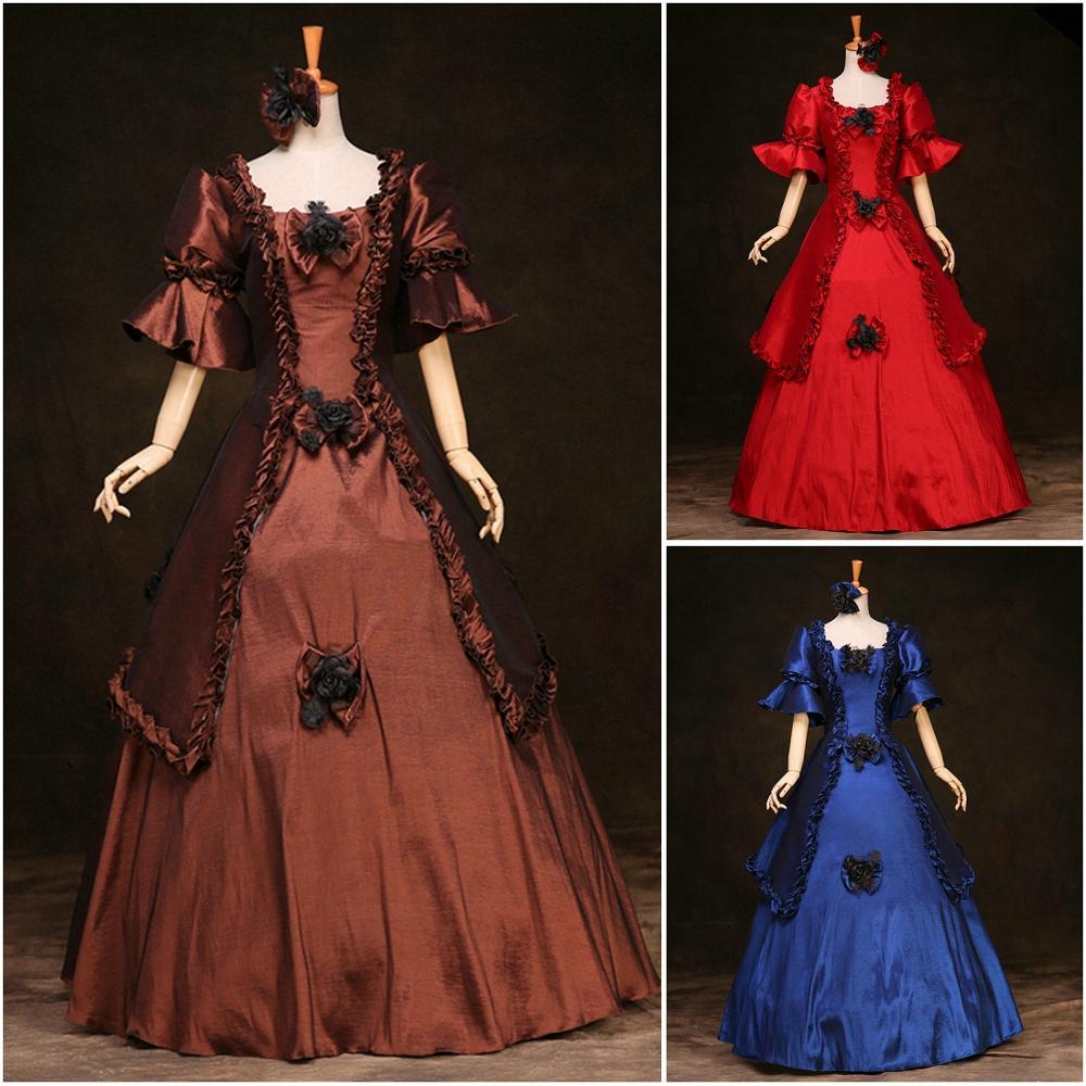 Women\'s Luxury Medieval/Renaissance Colonial Belle Queen Gown ...