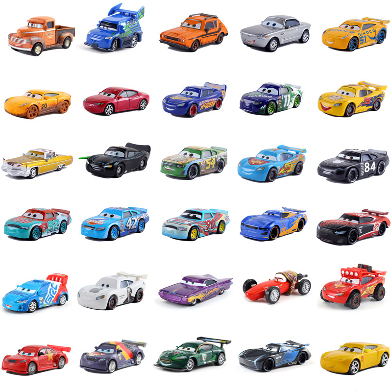 Cars Disney Pixar Cars 3  Lightning McQueen Toys Jackson Storm The King Mater 1:55 Diecast Metal Alloy Model Car Kid Gift Boy