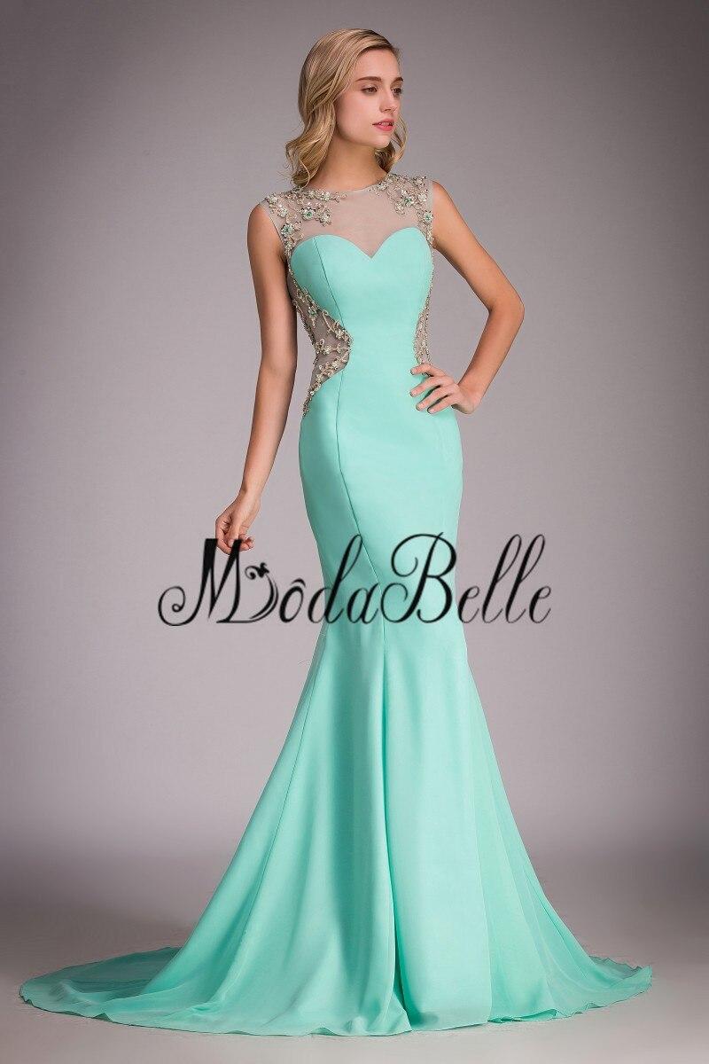 Sexy Open Back Mint Colored Prom Dress 2017 Long Mermaid Vestidos De ...