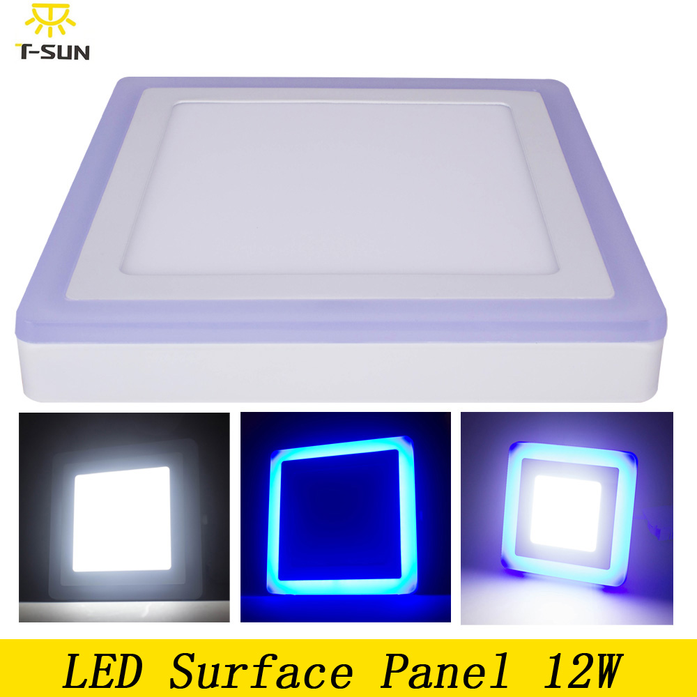 T SUNRISE Acrylic LED Ceiling Panel 12W LED Lighting White Blue Square  Ceiling Light Fixtures Panel Light 2835 SMD In Downlights From Lights U0026  Lighting On ...