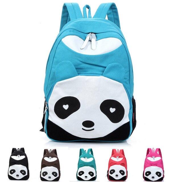 Hot Sale Panda Ransel Kanvas Remaja Sekolah Tas Untuk Anak Laki Laki Panda Tas Sekolah