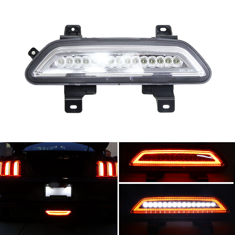 цены For Ford Mustang 2015 2016 2017 2018 Multi-function Car Led Tail Light Rear Fog Lamp Reverse Auto Bulbs Brake Lights Car-Styling
