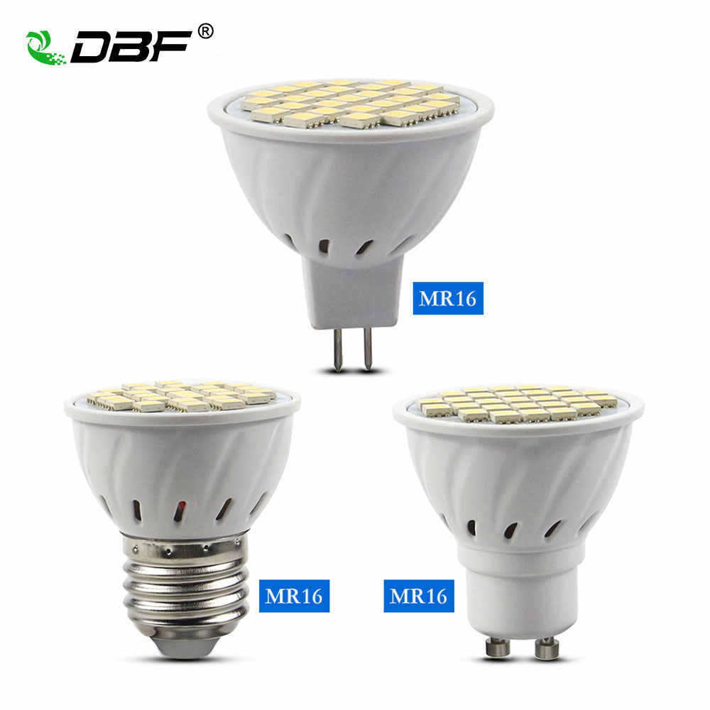 [DBF] Geen Flicker E27 SMD 5050 MR16 LED Spotlight Lamp GU10 AC 110 V 220 V LED Lamp 3 W/4 W/5 W Lampada Home Indoor Verlichting Lamp