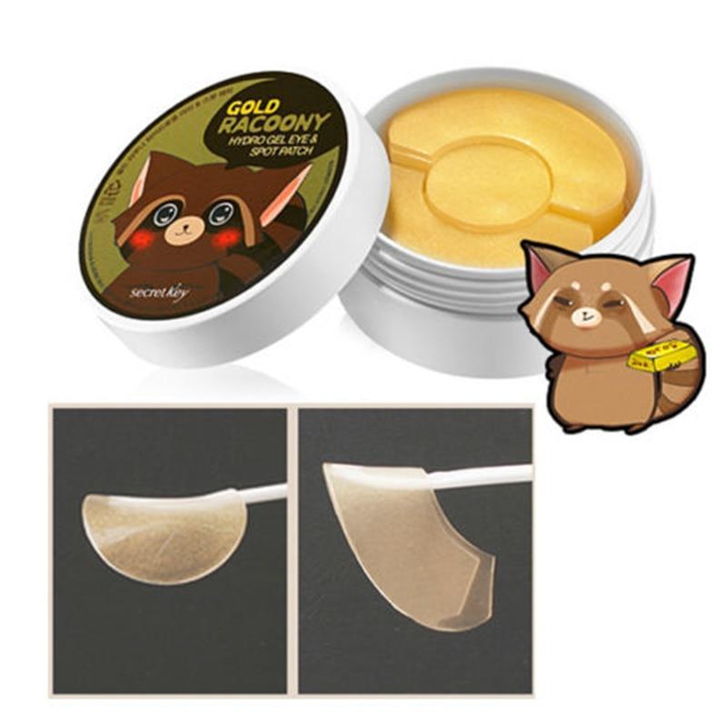 SECRET KEY Gold Racoony Hydro Gel Eye & Spot Patch 90pcs (Eye 60pcs and Spot Patch 30pcs) Eye Mask Eye Care Spot Remover