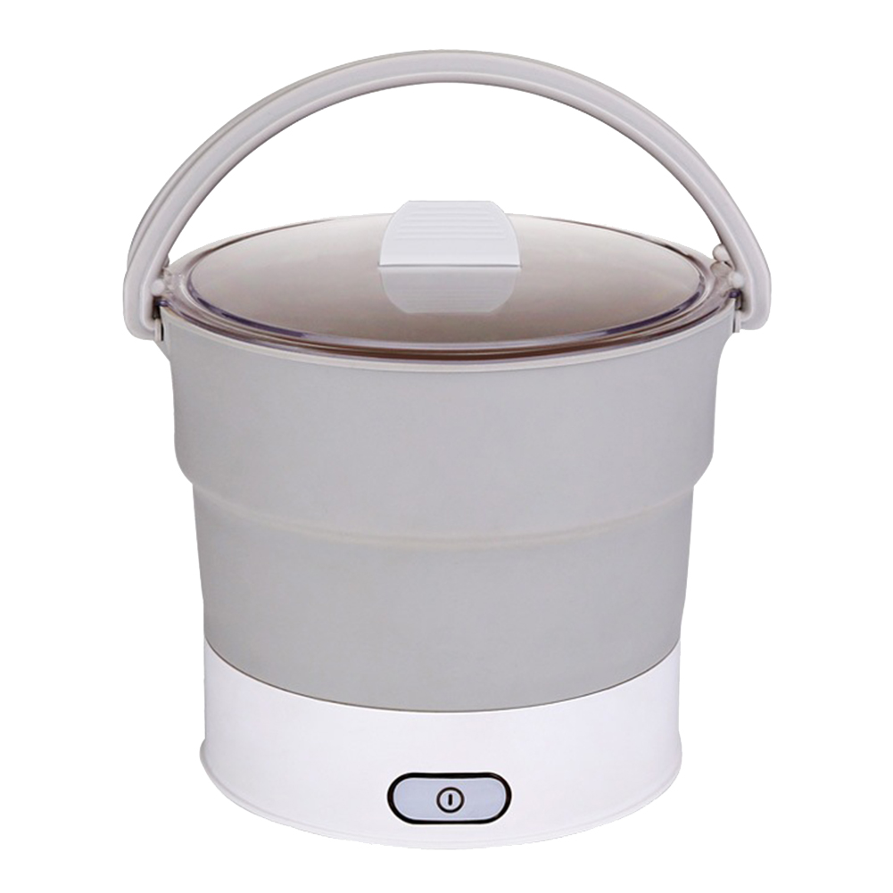 Folding Hot Pot Electric Skillet Kettle Heated Food Container Travel Cooker Tool E2S