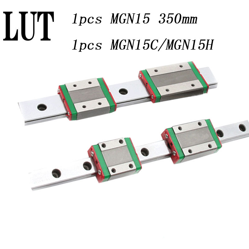 High quality 1pcs 15mm Linear Guide MGN15 L= 350mm linear rail way + MGN15C or MGN15H Long linear carriage for CNC XYZ Axis 1pcs mgn15 l1000mm linear rail 1pcs mgn15c carriage