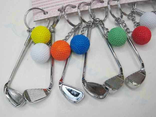 Bolsa de Golf adornos de plástico mini colgante de bola de golf llavero de publicidad deportiva llavero de los fanáticos de los deportes souvenirs llavero