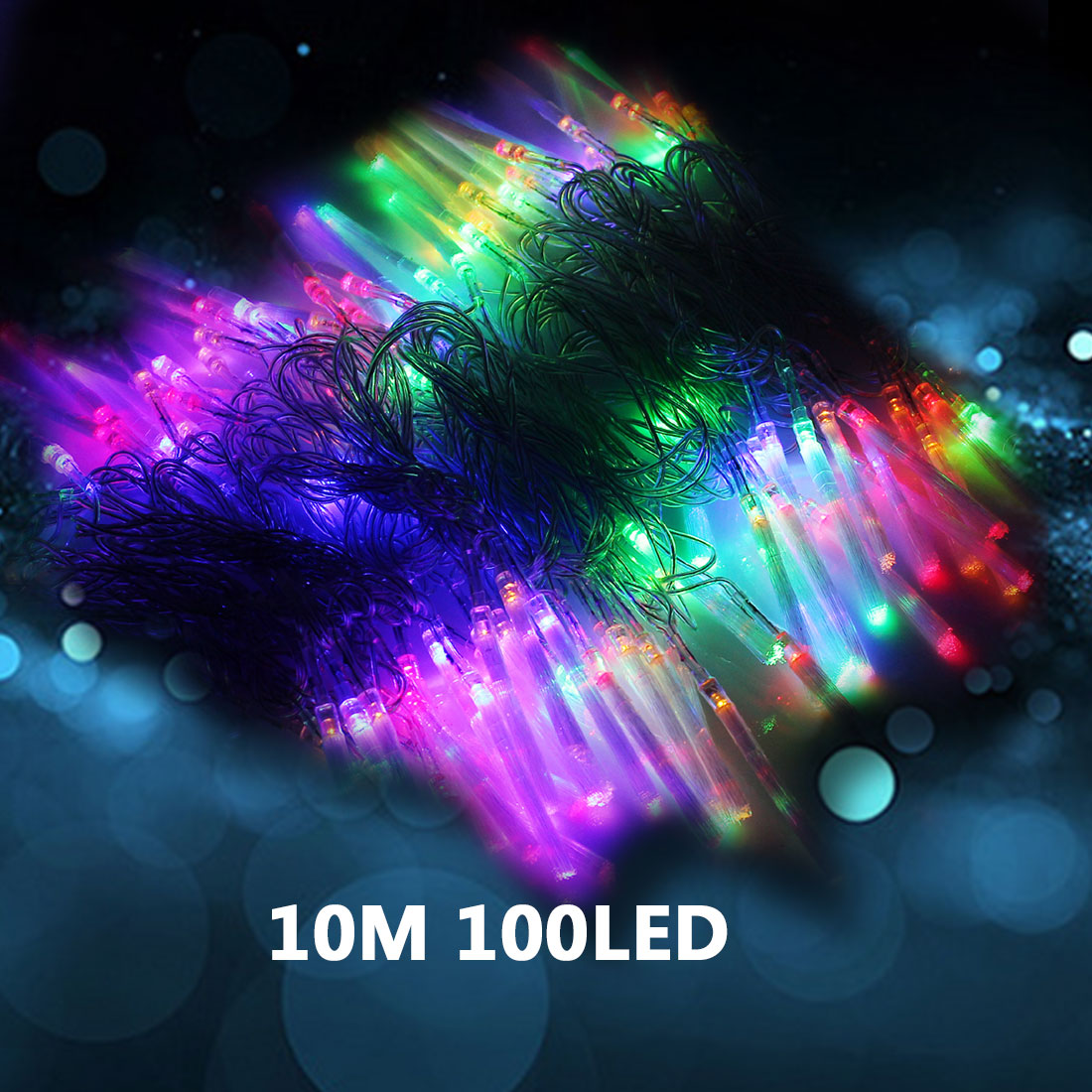 1pc Fashion 10M 100 Led String Fairy Light Christmas Party Light 110V/220V Waterproof Decoration Wedding Outdoor