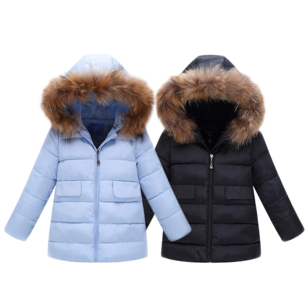Jackets Coat Outerwear Hoodie Zipper Girl Baby Boys Winter Kids Children's Warm Thick