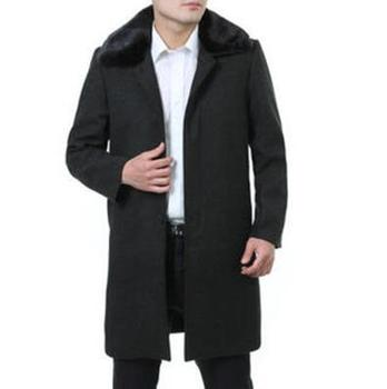 2016 winter slim fashion classic new style for the men's cashmere jacket good quality business long wool coats clothing big size