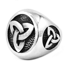 Silver Celtic Knot Ring Stainless Steel Jewelry Claddagh Style Fashion Motor Biker Men Ring Wholesale SWR0361A