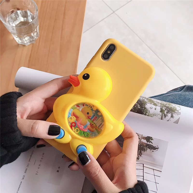 Game Duck Case for Samsung Galaxy A7 2018 A6 A8 Plus A9 Star A3 A5 2016 2017 A10 A20 A30 A40 A50 A70 Soft Liquid Silicone Cases image