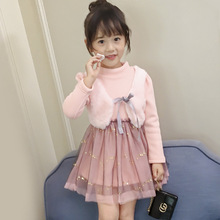 Baby Girl Dress 2018 New Autumn Winter Casual Cute Kids Long Sleeve Christmas Princess Dress For Girls Clothes 2 3 4 5 6 7 Years christmas dress bland 2017 new kids sweater dress spring autumn winter girls long warm fashion princess toddler girl clothes