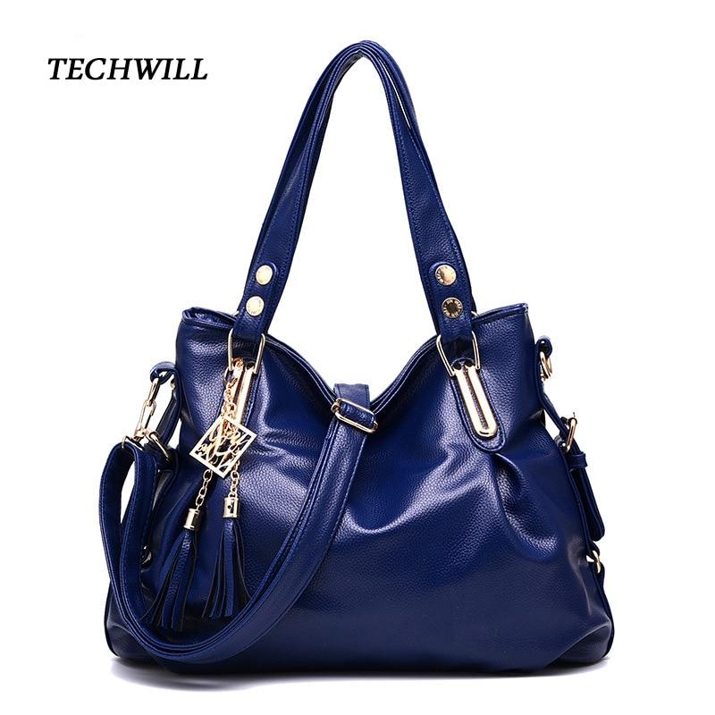 Large Capacity Office Women Handbags Female Purse Tassel Top-Handle Bag PU Leather Shoulder Crossbody Bags Bolsa Feminine